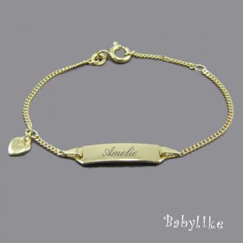 Herz-Armband Gold Baby • 14/12 oder 16/14 cm • 333 / 585/-Gold • inkl. Gravur