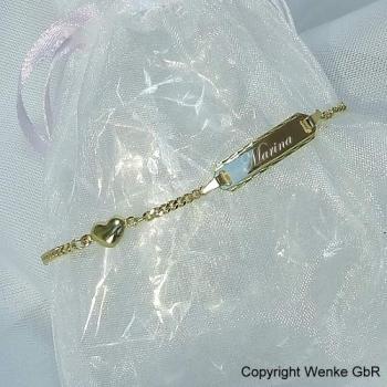 Armkettchen Gold Herz • 14/12 cm • 333/585/-Gold • inkl. Gravur