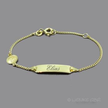 Baby-Armband Gold Schutzengel rund • 333/585/750/-Gold • 14/12 cm • inkl. Gravur