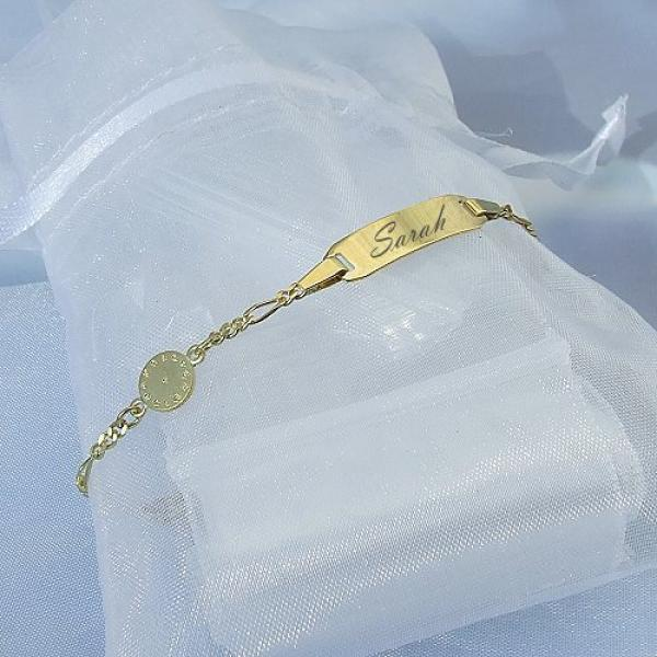 Armband Baby Taufuhr Gold